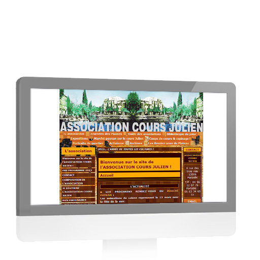Association Cours Julien - Site Internet